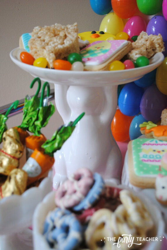 Easter Bar Cart by The Party Teacher - bunny platter
