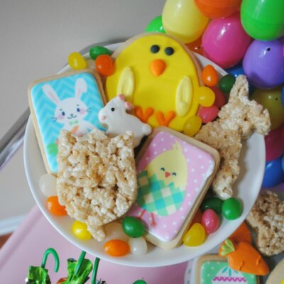 My Parties: How to Style an Easter Egg Hunt Bunny Buffet