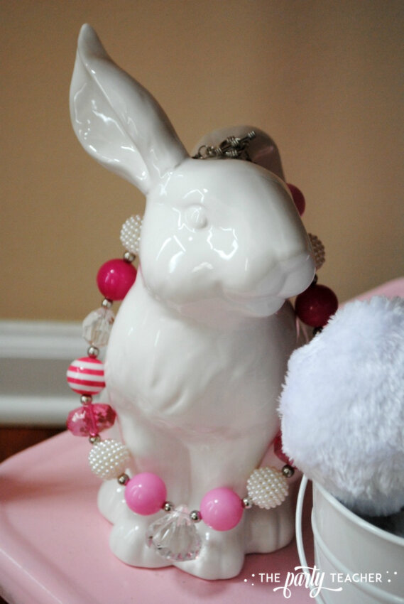 Easter Bar Cart by The Party Teacher - ceramic bunny