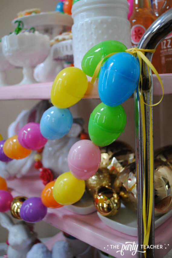 Easter Bar Cart by The Party Teacher - egg garland 2