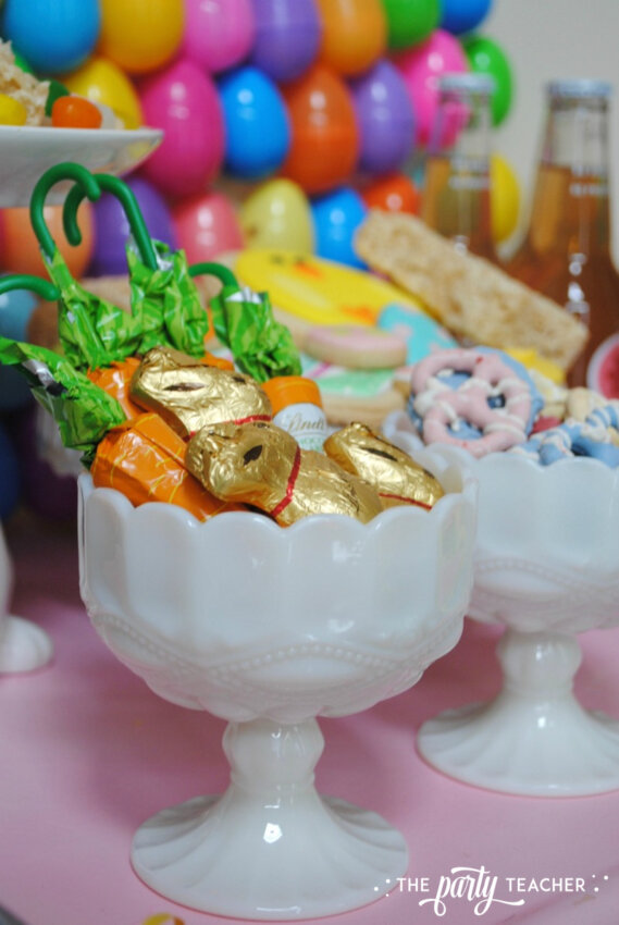 Easter Bar Cart by The Party Teacher - white candy dishes