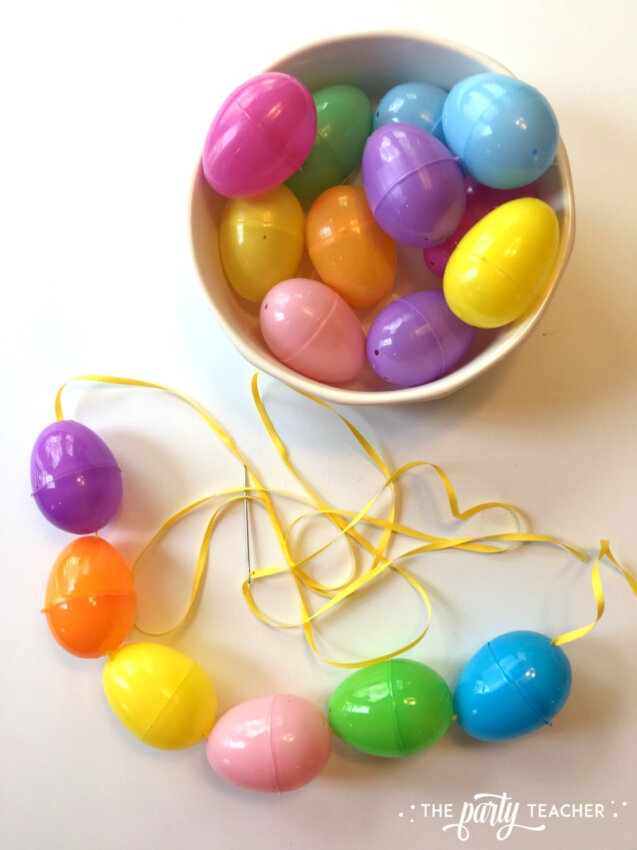 Easter egg garland by The Party Teacher-5