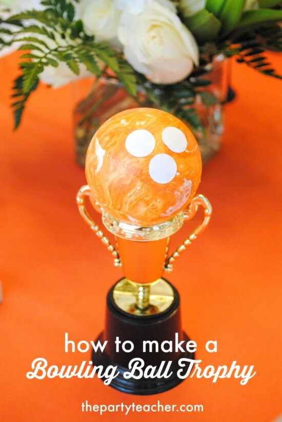 How to make a bowling ball trophy by The Party Teacher - 6