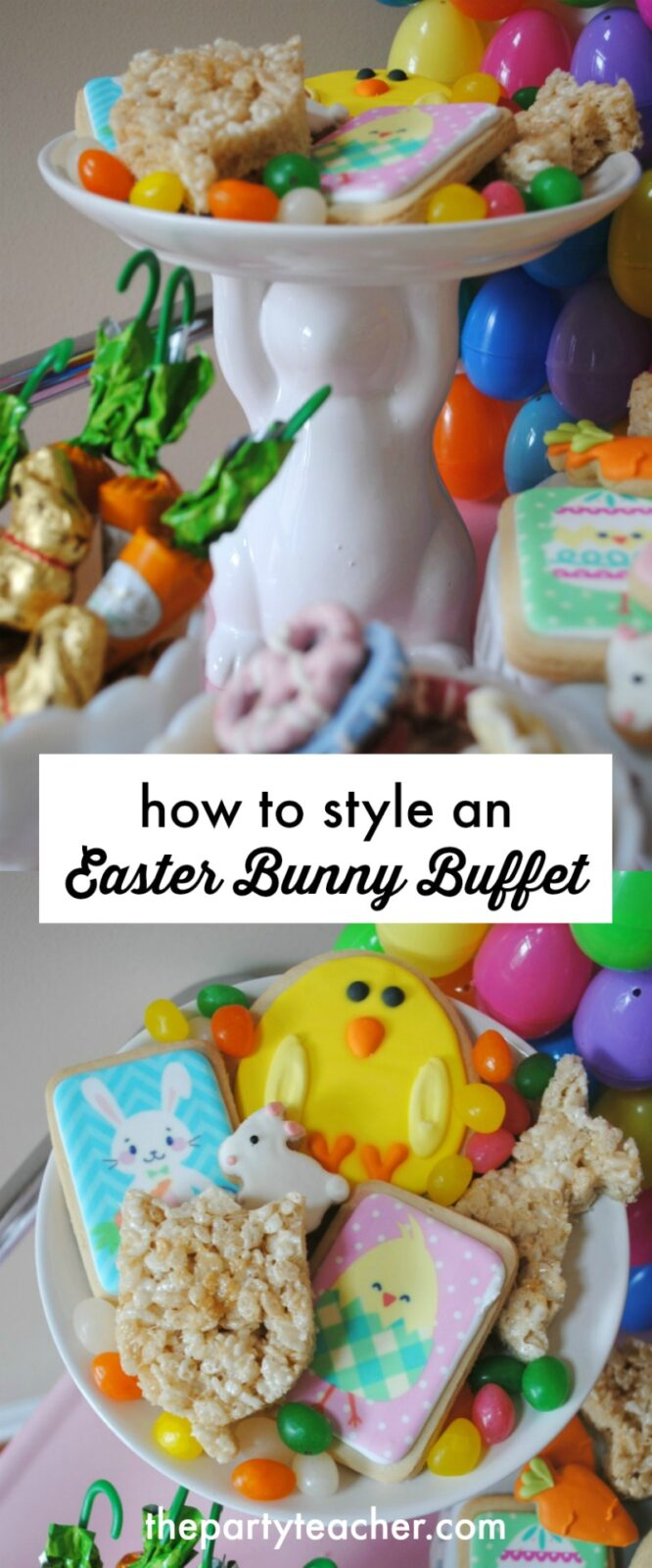 How to style an Easter egg hunt bunny buffet by The Party Teacher