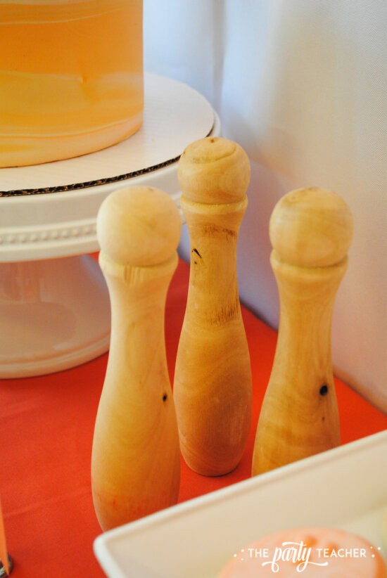 Teen Girls Bowling Party by The Party Teacher - add bowling pins to your dessert table