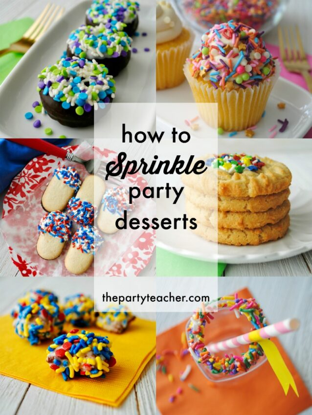 How to sprinkle party desserts by The Party Teacher