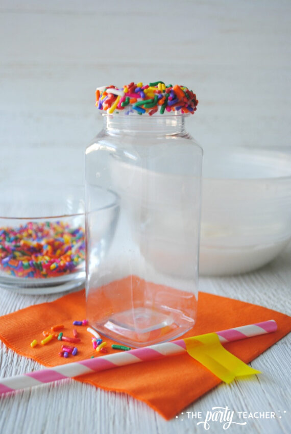 Sprinkle Milk Bottle by The Party Teacher - 8*