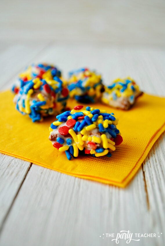 Sprinkle Pretzel Nuggets by The Party Teacher