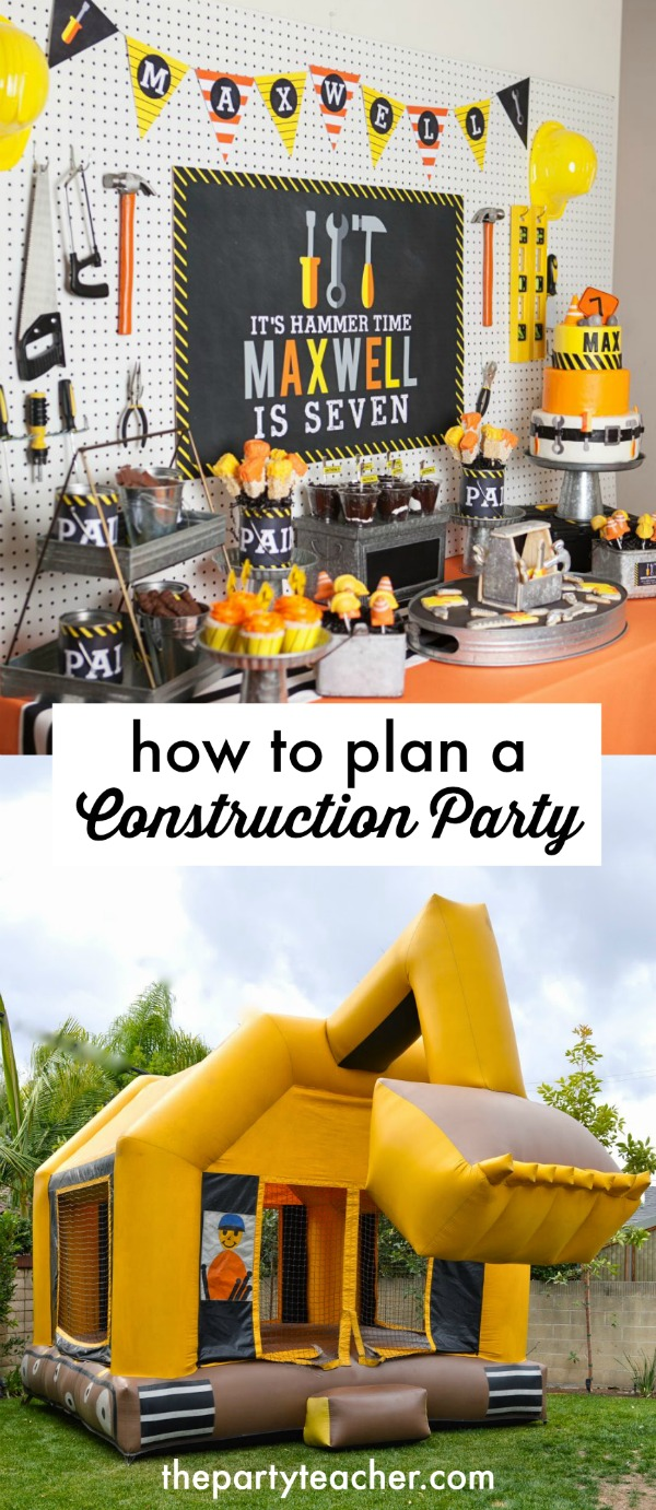 How-to-plan-a-construction-birthday-party-ideas-curated-by-The-Party-Teacher