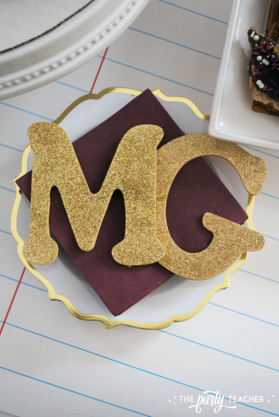 Middle School Graduation Party by The Party Teacher - 11 napkin toppers