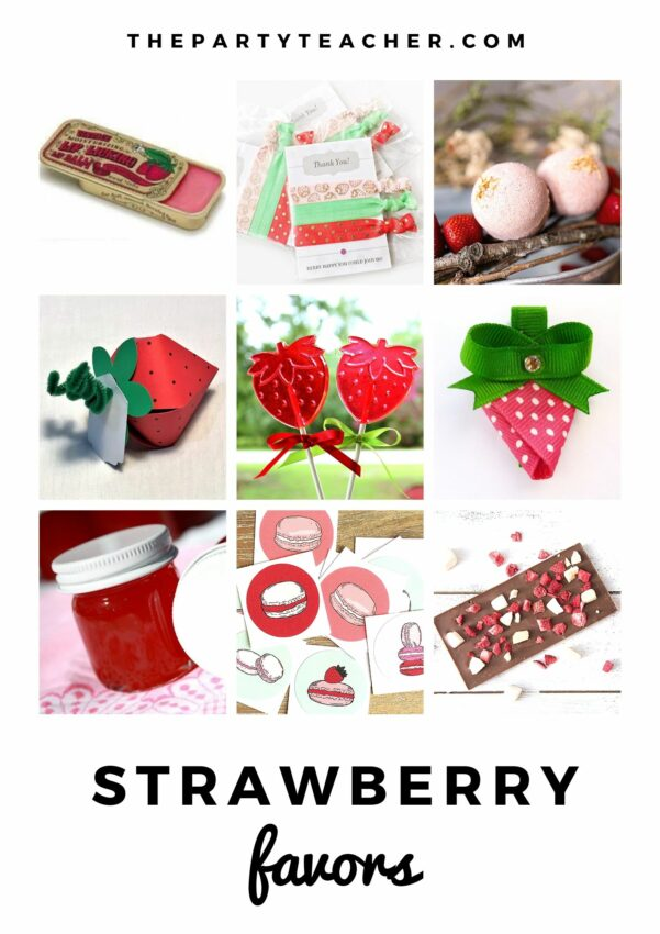 Mini Party Plan - Strawberry Party by The Party Teacher - party favors