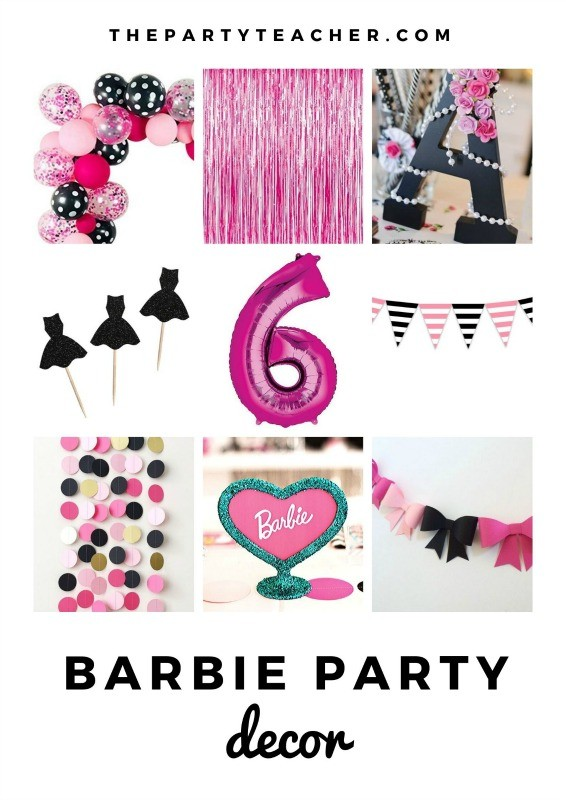 Mini Party Plan - Barbie Party Decorations curated by The Party Teacher