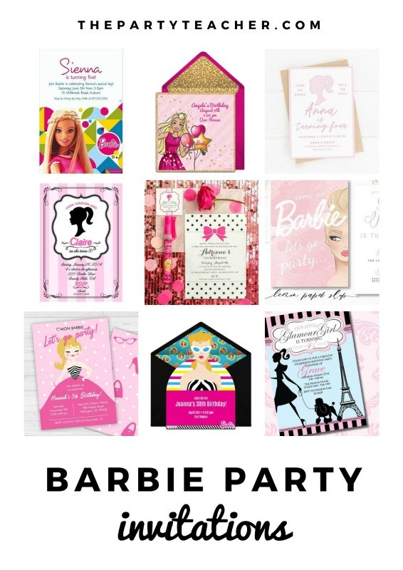 Mini Party Plan - Barbie Party Invitations curated by The Party Teacher