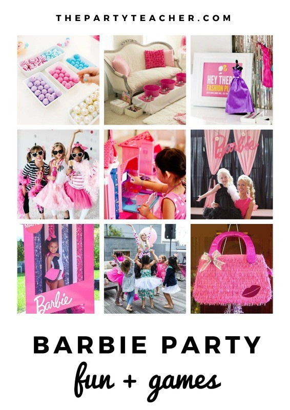 Mini Party Plan - Barbie Party activities curated by The Party Teacher