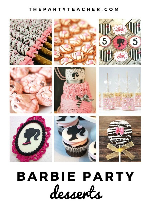 Mini Party Plan - Barbie Party desserts curated by The Party Teacher
