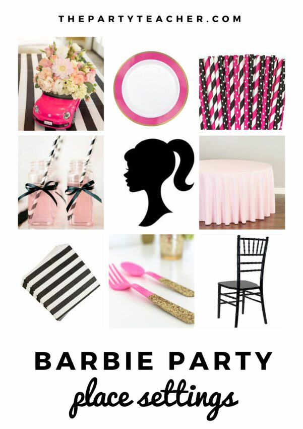 Mini Party Plan - Barbie Party place settings curated by The Party Teacher