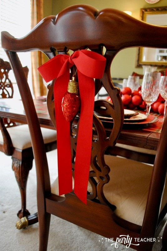 Christmas Chair Decorations 4 Ways by The Party Teacher - 1