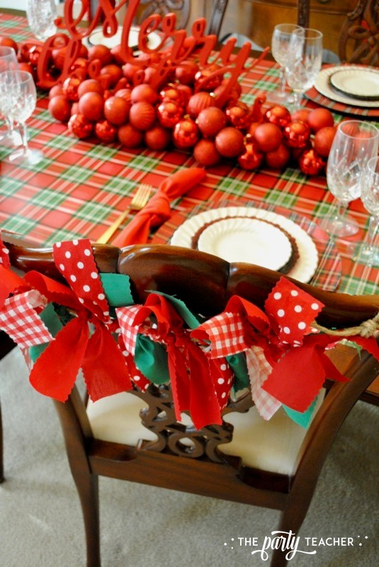 Christmas Chair Decorations 4 Ways by The Party Teacher - 3