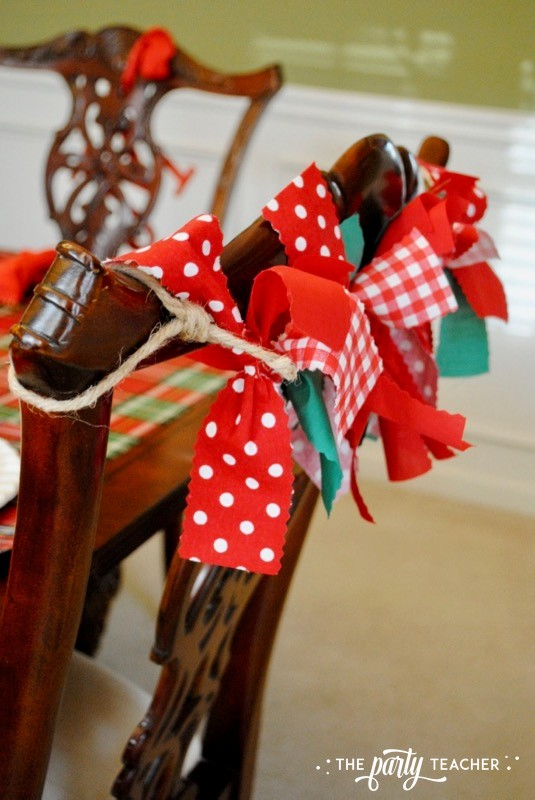 Christmas Chair Decorations 4 Ways by The Party Teacher - 5