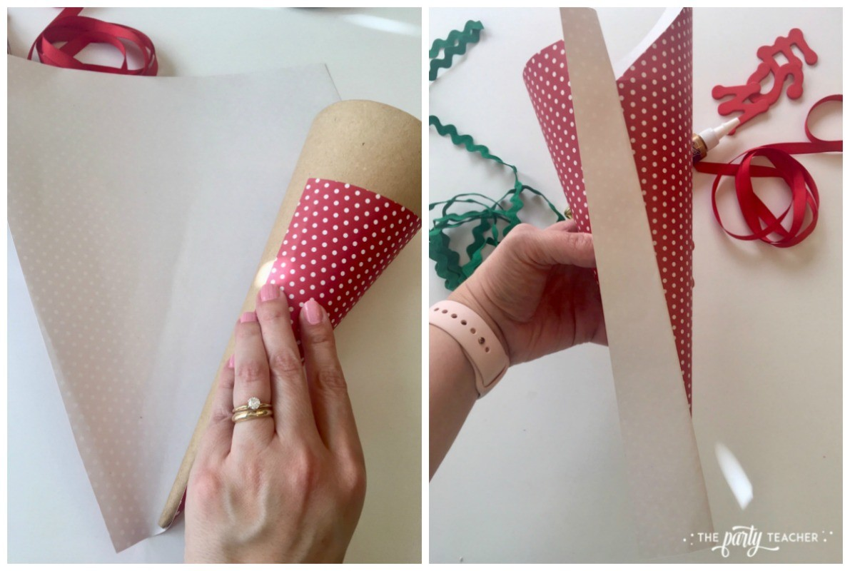 How to decorate paper cone by The Party Teacher-1