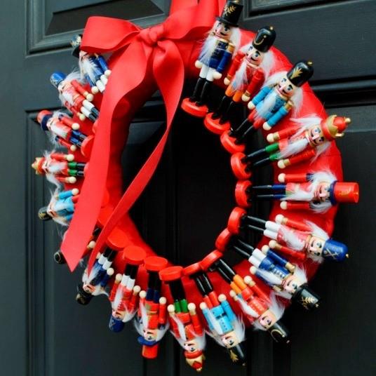 Tutorial: How to Make a Nutcracker Wreath