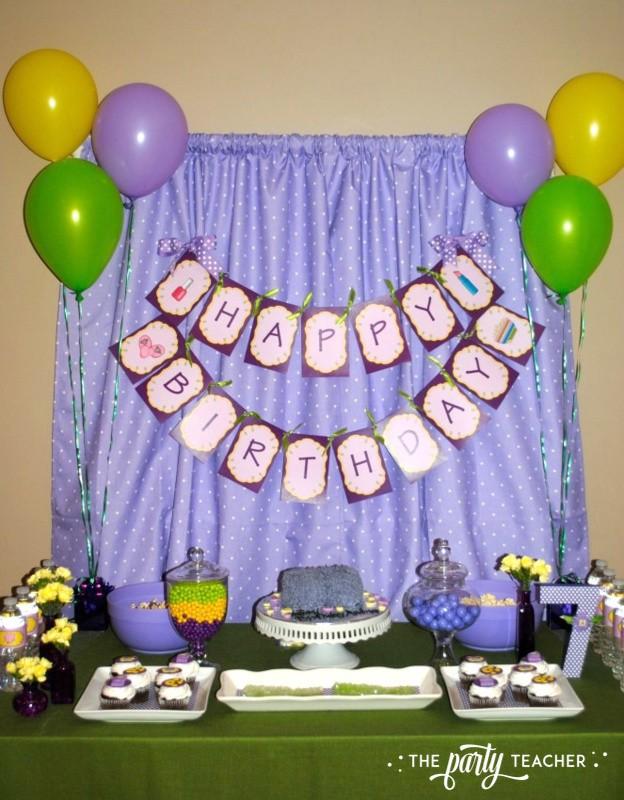 Girls Rule Slumber Party - dessert table - The Party Teacher
