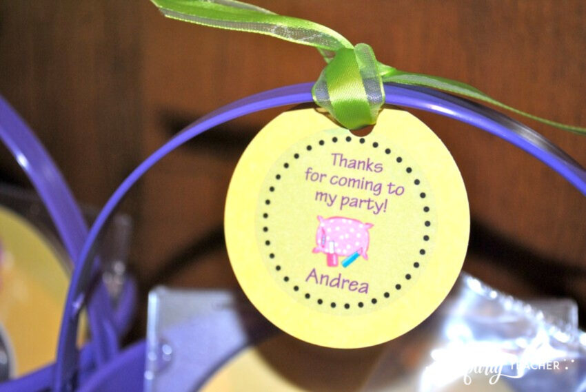 Girls Rule Slumber Party - favor tags - The Party Teacher