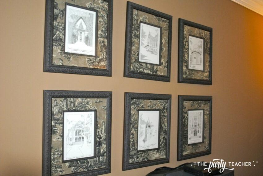 Sitting room frames - The Party Teacher