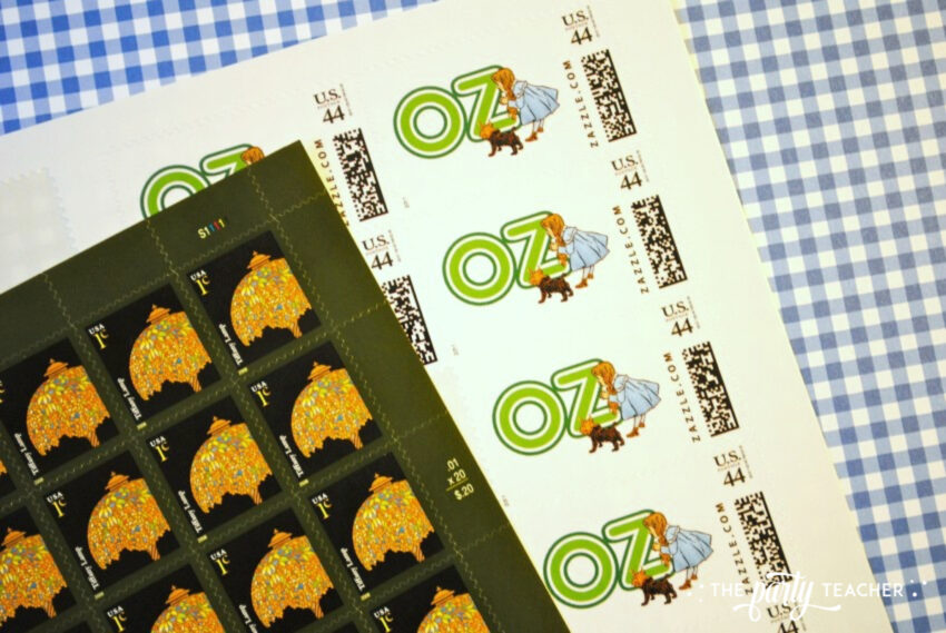 Wizard of Oz party stamps - The Party Teacher