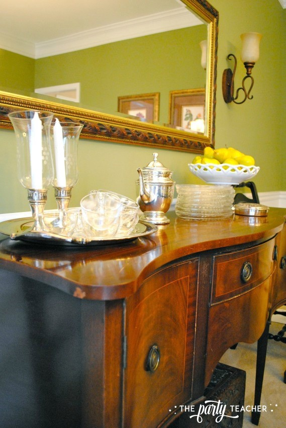 Dining room sideboard 2 - The Party Teacher