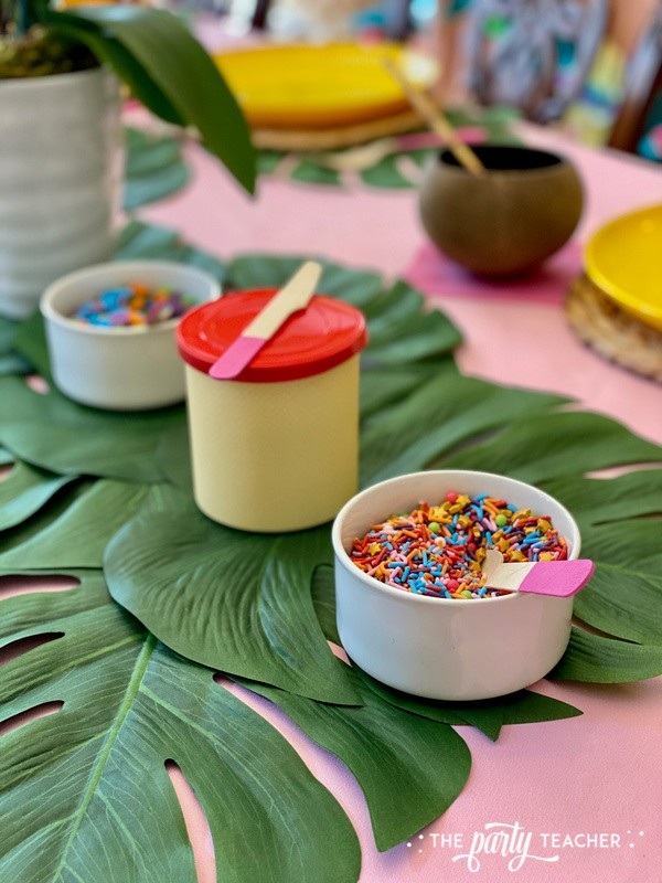 Donut Hut birthday party by The Party Teacher - sprinkles