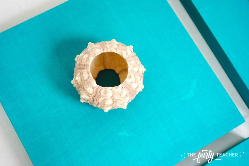 Easy shell art tutorial - glue shell 5 - The Party Teacher