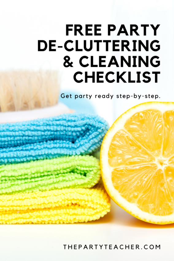 Free party decluttering cleaning checklist - get party ready step by step - The Party Teacher