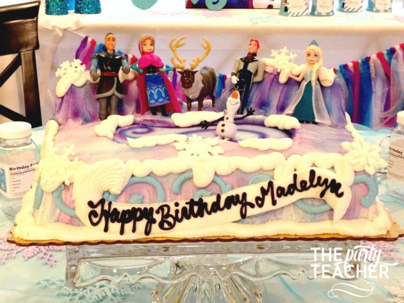 Frozen-Party-on-a-Budget-cake-The Party Teacher
