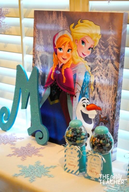 Frozen-Party-on-a-Budget-frozen art backdrop-The Party Teacher