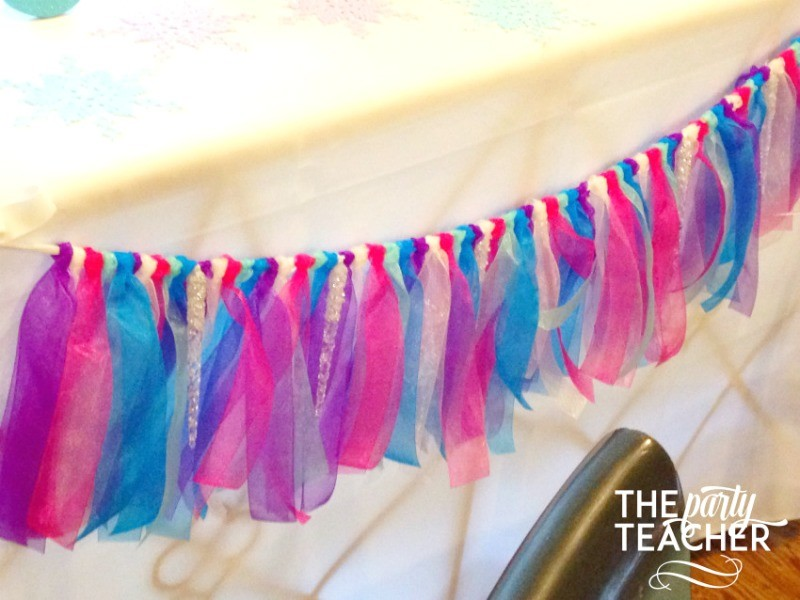 Frozen-Party-on-a-Budget-ribbon bunting-The Party Teacher