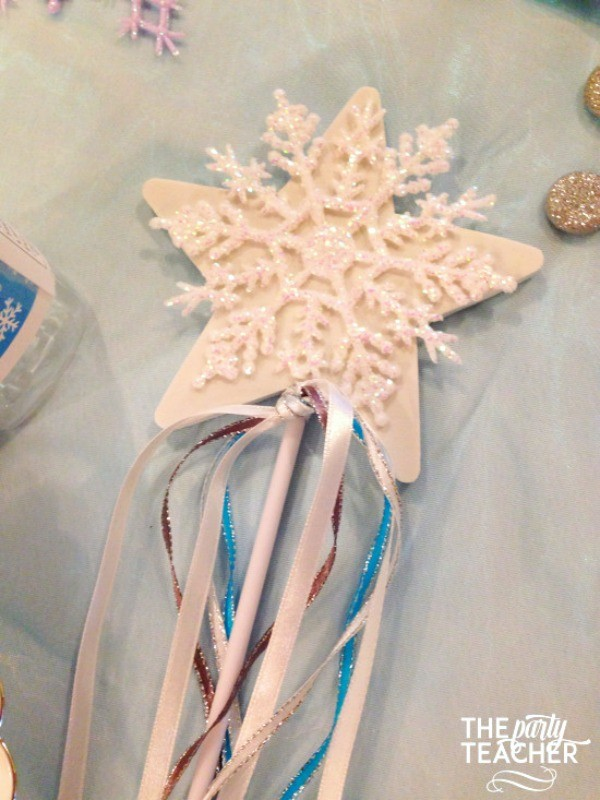 Frozen-Party-on-a-Budget-snowflake wand-The Party Teacher