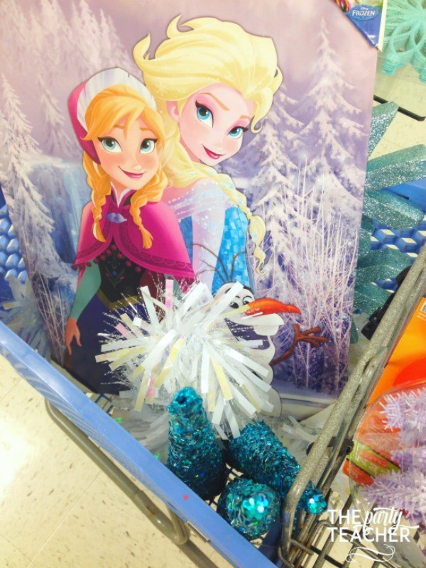 Frozen party on budget-hobby lobby shopping - The Party Teacher