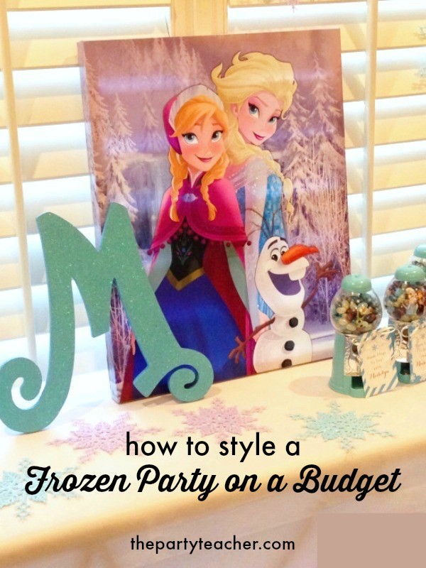How to style a Frozen party on a budget by The Party Teacher