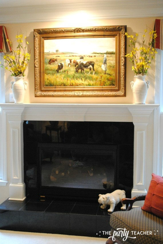 Living room mantel - The Party Teacher
