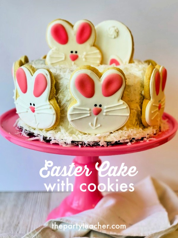 Decorate-an-Easy-Easter-Cake-with-Cookies-The-Party-Teacher
