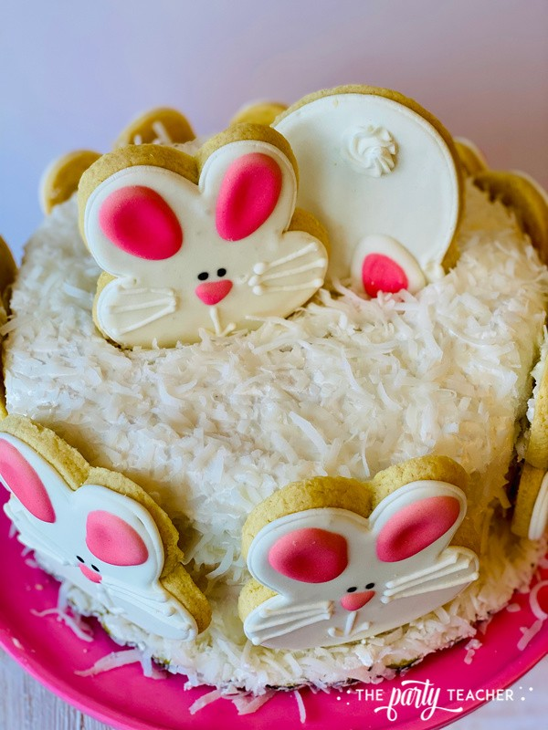 Easy Easter Cake by The Party Teacher-7 add cookies to top