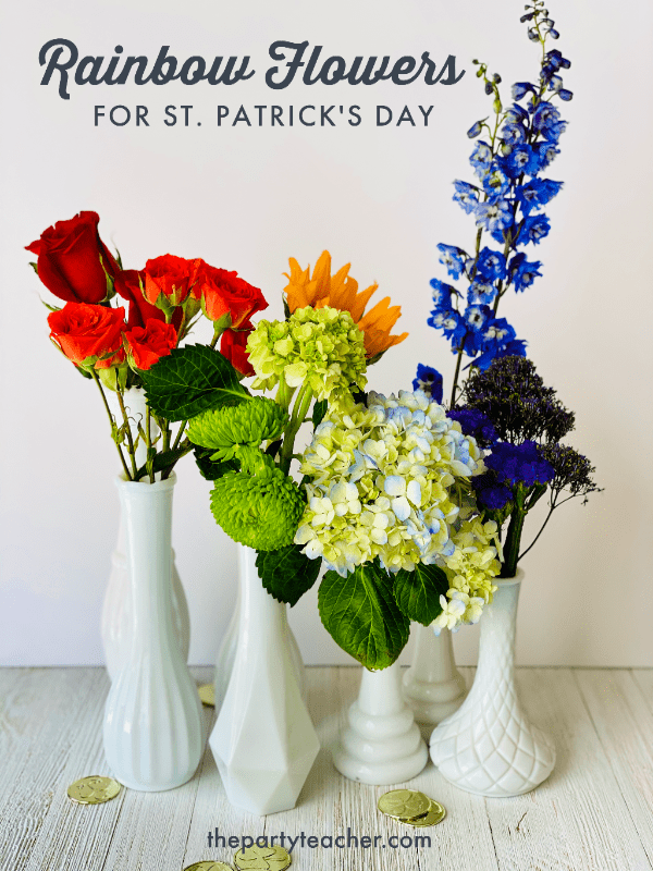 Easy rainbow flowers for St Patricks Day by The Party Teacher