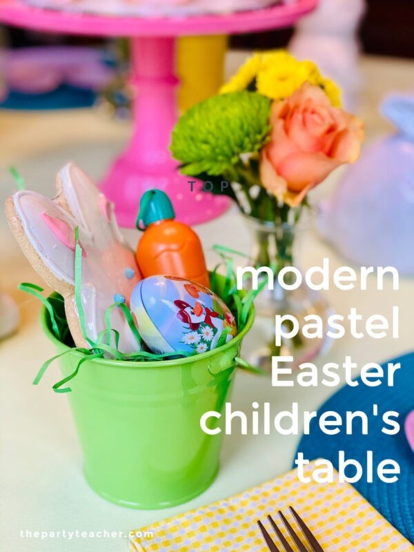 Modern Pastel Easter Children's Table by The Party Teacher