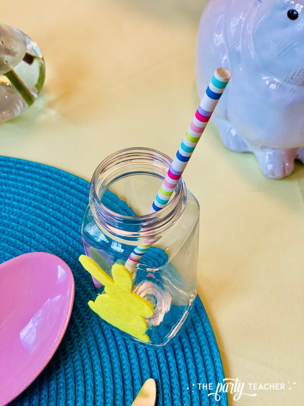 Pastel Easter Children's Table by The Party Teacher - milk bottle straw