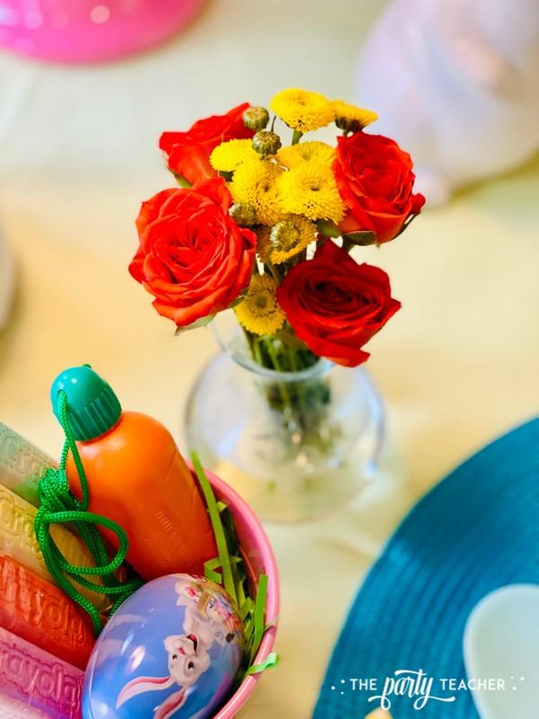 Pastel Easter Children's Table by The Party Teacher - mini floral arrangement