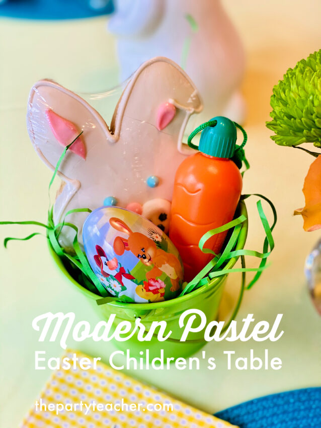 Pretty Pastel Easter Children's Table by The Party Teacher