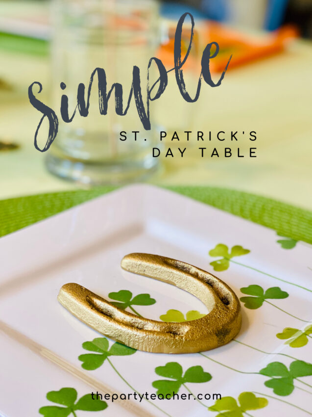 Simple St. Patrick's Day Table by The Party Teacher