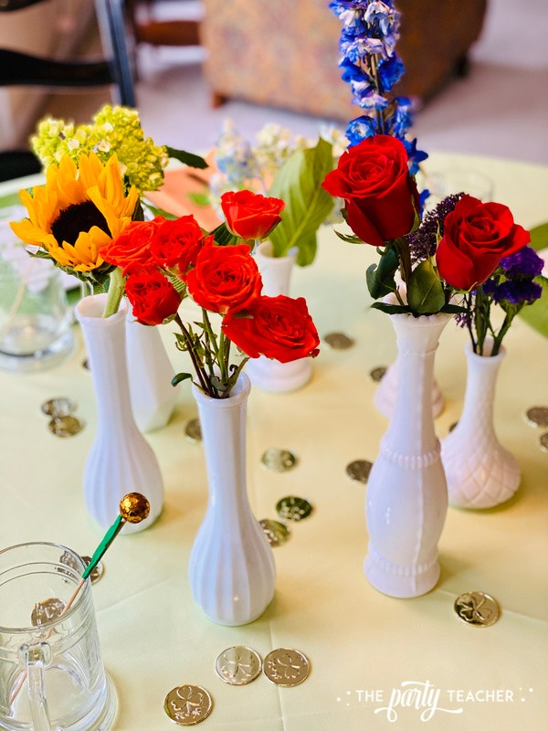 St. Patrick's Day Table by The Party Teacher - bud vases