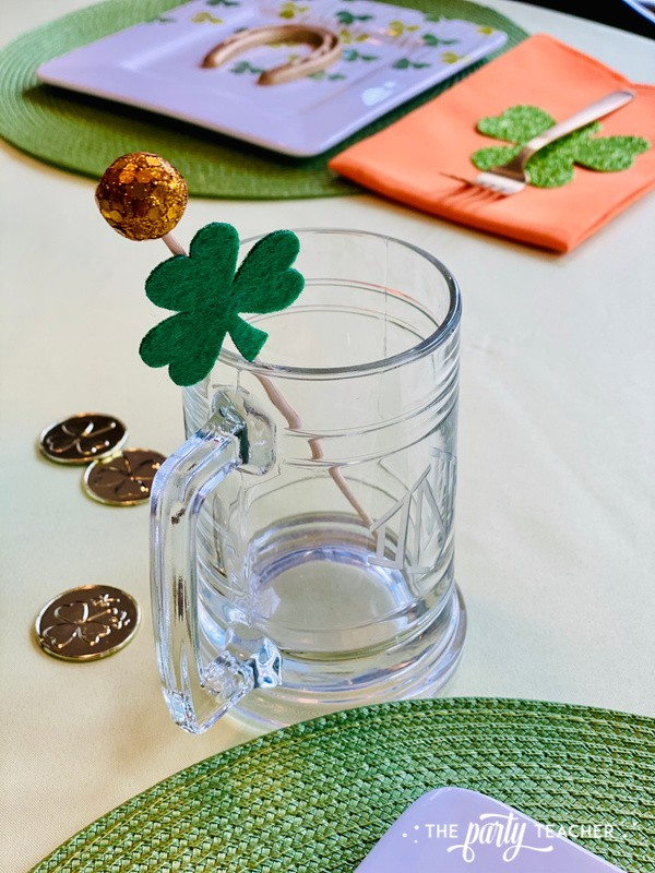St. Patrick's Day Table by The Party Teacher - monogrammed mug